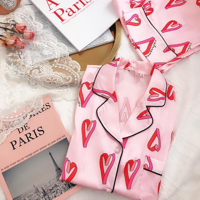 ♡ピンクハート柄ナイトウェア