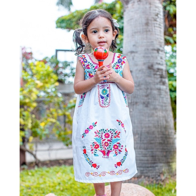 Mexican Embroidered Dress [Size 6T/120cm]