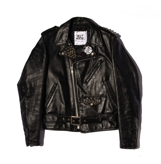 JUST NOISE BLACK LABEL: Leather Jacket-002