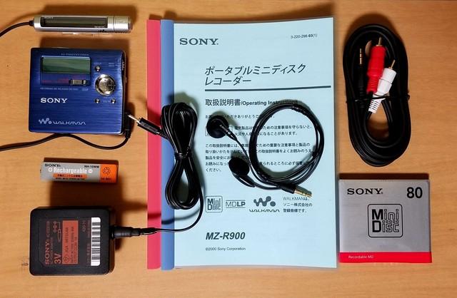 MDポータブルレコーダー SONY MZ-R909-B MDLP 美品・完動品♪