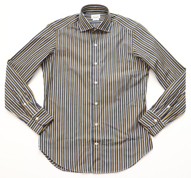 GIANNETTO / ジャンネット セミワイドカラー ストライプシャツ