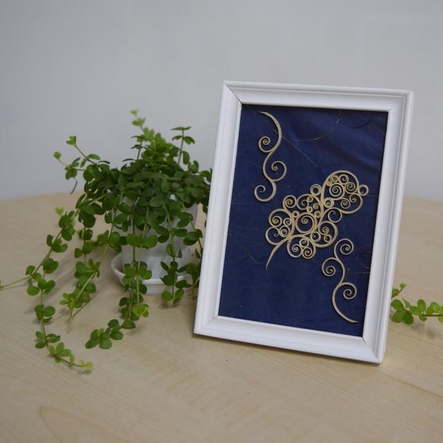 木材アート額縁  Wood picture frame 【さっぽろアイヌクラフト】