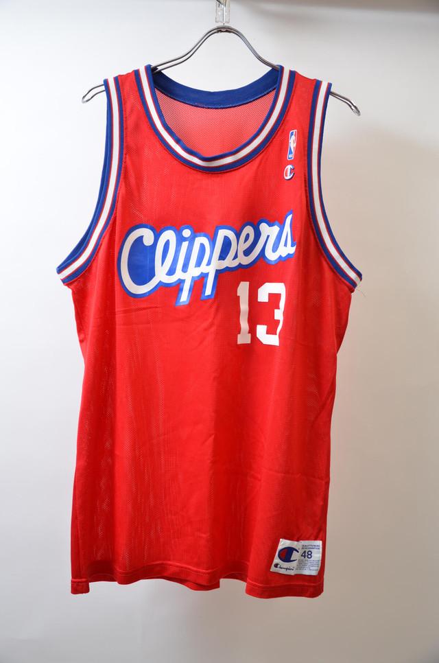 【Lサイズ寸】CHAMPION チャンピオン NBA TANKTOP CLIPPERS #13 エヌビーエー クリッパーズ バスケジャージー RED 400608190653