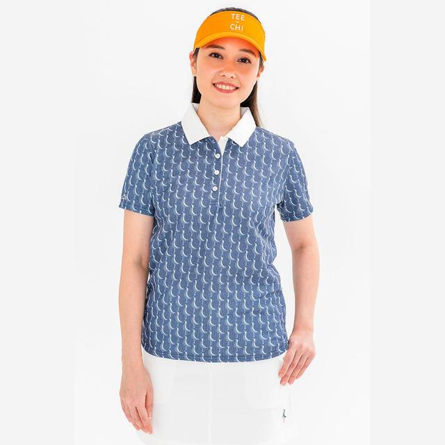 Tee-chi レディース サンゴクロスポロシャツ <千鳥><NAVY>