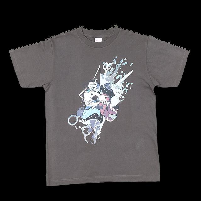 DECO*27「モザイクロール」Tシャツ メンズ:チャコール - メイン画像
