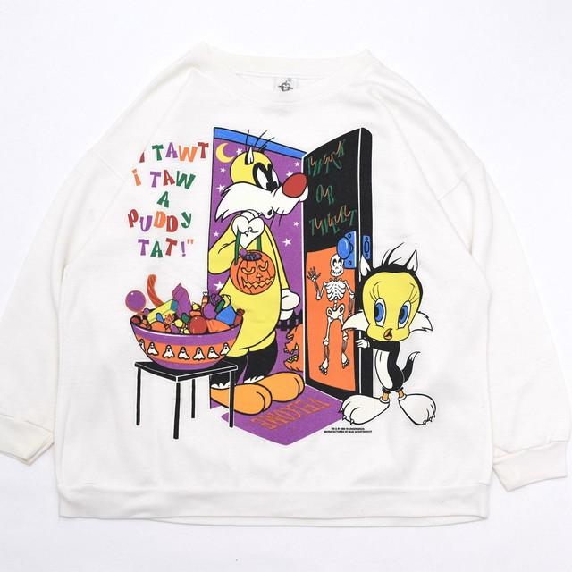Tweety×Sylvester Halloween sweatshirt