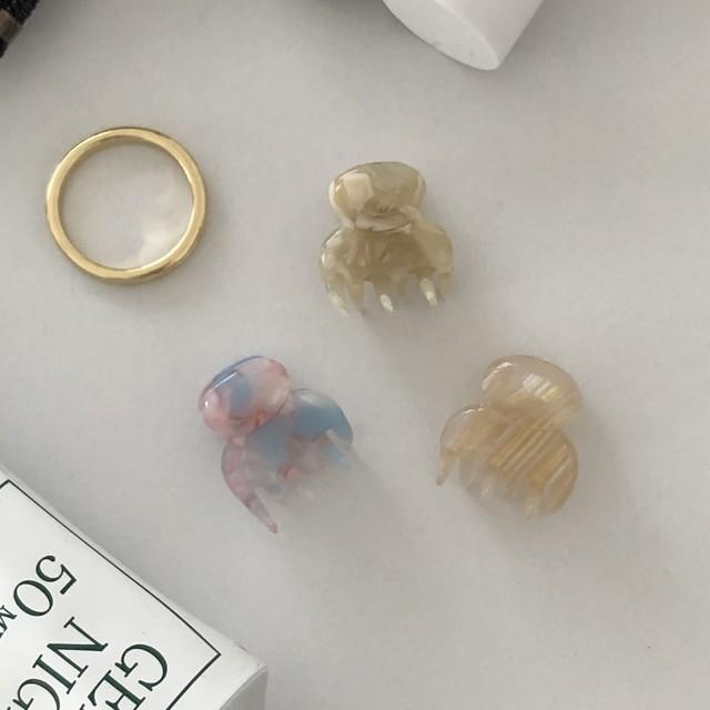 marble mini hair clip(3 colors)