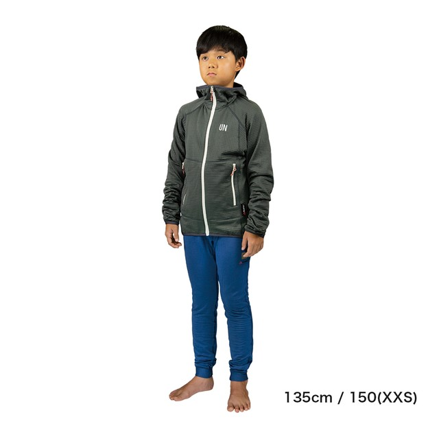 Kids / UN2100 Light weight fleece hoody / Charcoal