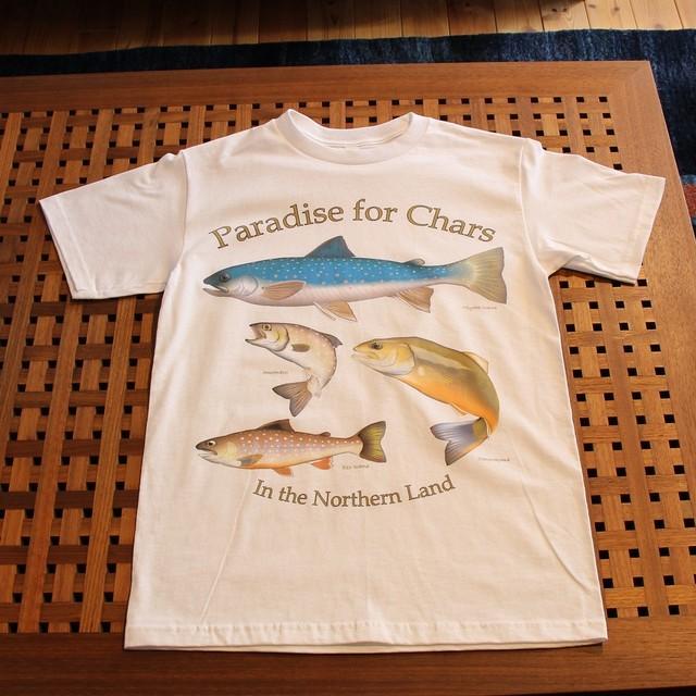 Northen Pika オリジナルデザインTシャツ[イワナパラダイス] カラー:ホワイト