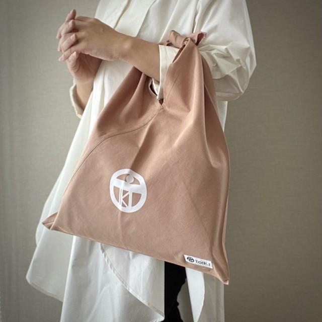 【casual eco bag】エコバッグを超え普段使いもできるあずま袋_ベージュ