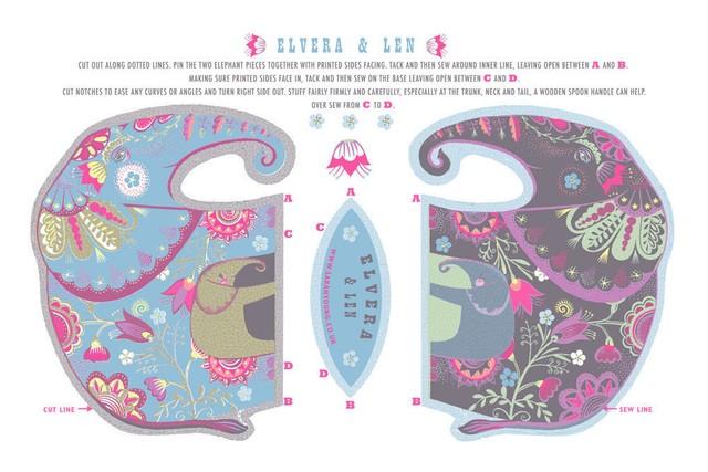 Elvera & Len Tea Towel / Cloth Kit
