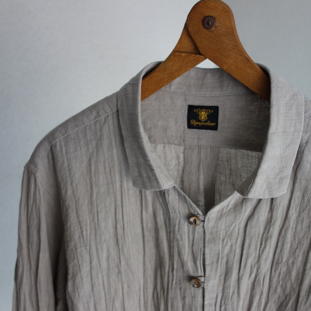 da farmers linen shirtcardigan / grege