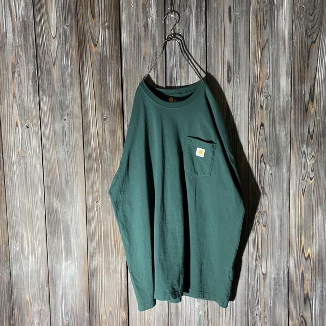 [Carhartt]dark green pocket T shirt