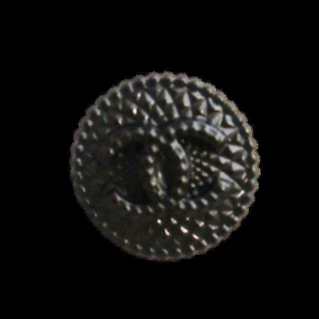 【VINTAGE CHANEL BUTTON】ブラック ココマーク ボタン 1.4cm