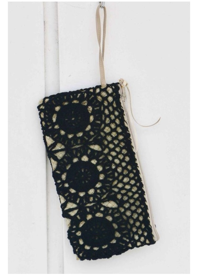 ◆Mon ange Louise◆ Clutch DENTELLE 天然素材を使用した手編みのクラッチバッグ