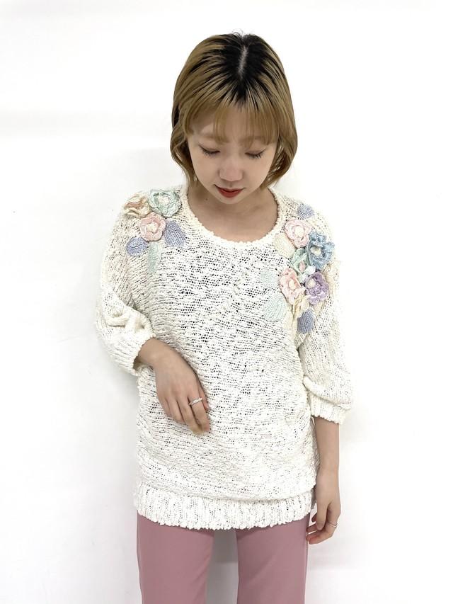 flower motif  knit / 3SSTP02-23