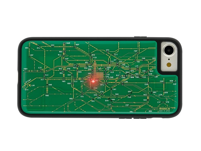 FLASH London回路線図 iPhoneSE(第2世代)/7/8 ケース 緑【東京回路線図A5クリアファイルをプレゼント】