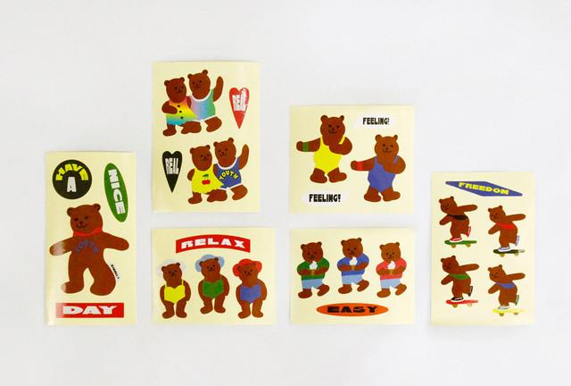 [S-22] 「TEDDY BEAR」 ヴィンテージステッカー