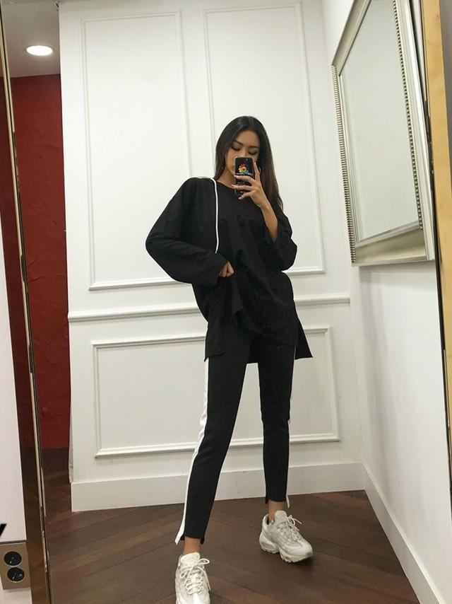 裾スリット起毛スウェットパンツ スウェットパンツ 韓国ファッション