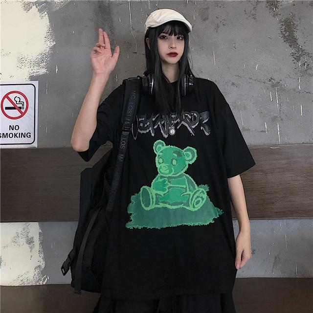 【トップス】カジュアルファッション通学プリントTシャツ30161769