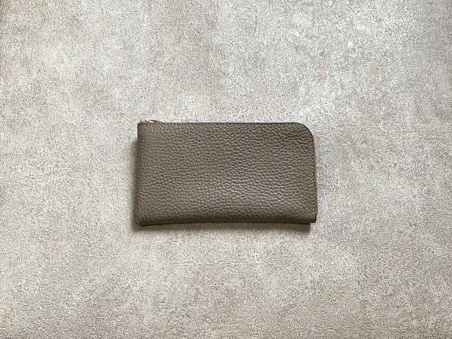 SHOZOウォレット(ソフトシュリンク):グレージュ ※「アジア・パシフィック・レザー・フェア2019」革小物部門グランプリ受賞商品