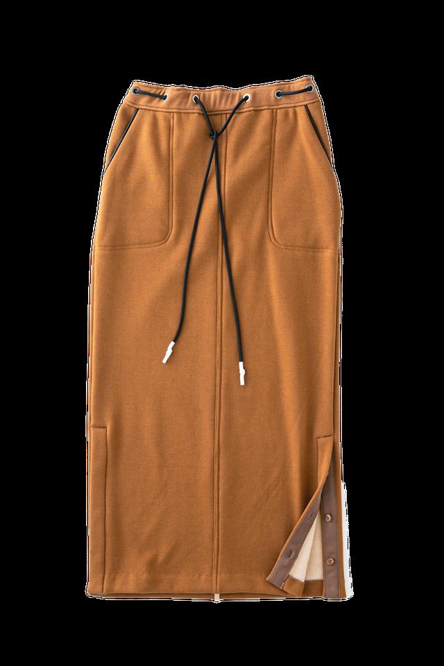 マシュマロタッチジャージースカート <キャメル>