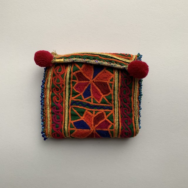 Vintage Pouch _01(アフガン ヴィンテージ 手刺繍ポーチ/財布)