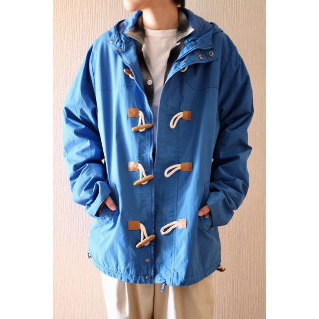 Vintage duffle coat type nylon jacket