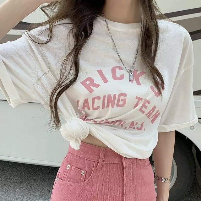【7/28まで30%OFF!!】ロゴ キャンディカラー カジュアル Tシャツ 2色 B8164