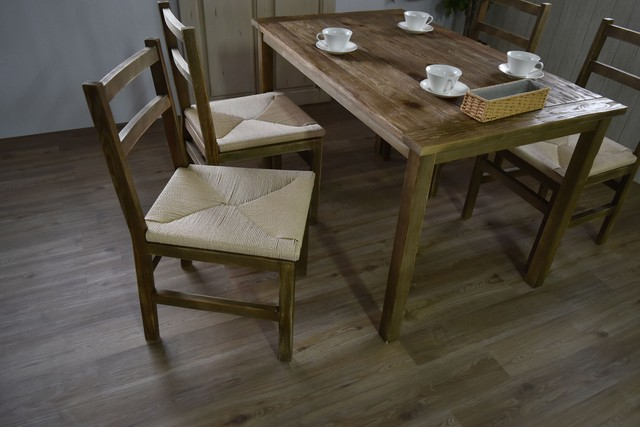 Old Pine Dining Chair / アンティークカントリースタイル オールドパイン ダイニングチェア