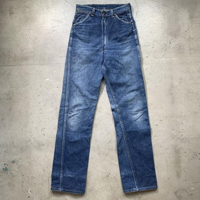 ~60's C.R.Anthony Co. BuckHide 5Pデニムパンツ ストレート ストアブランド オリジナル サイド巻縫い  小さいサイズW26 希少 ヴィンテージ BA-1448 RM1817H