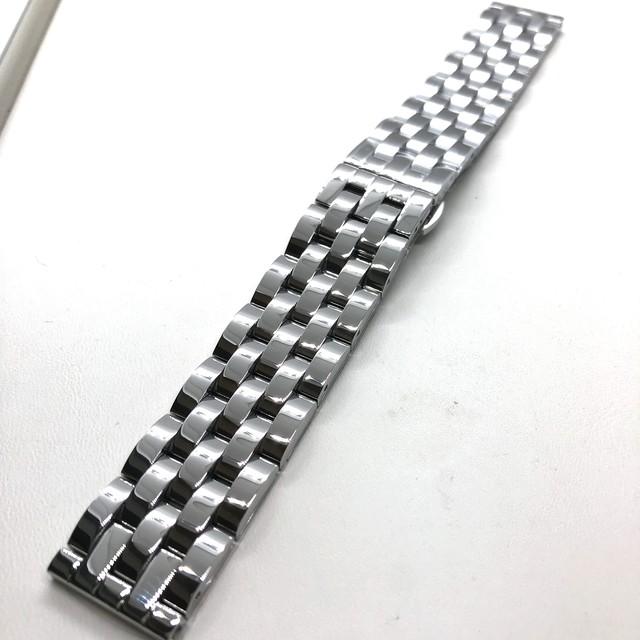 Geckota バタフライバックル ソリッド 5リンク(5連) ブレスレット ポリッシュステンレス 20mm 腕時計ベルト