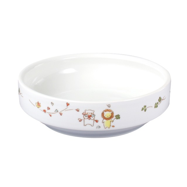【1714-1360】強化磁器 14.5cm すくいやすい食器 そよかぜ