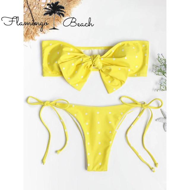 【FlamingoBeach】yellow ribbon bikini