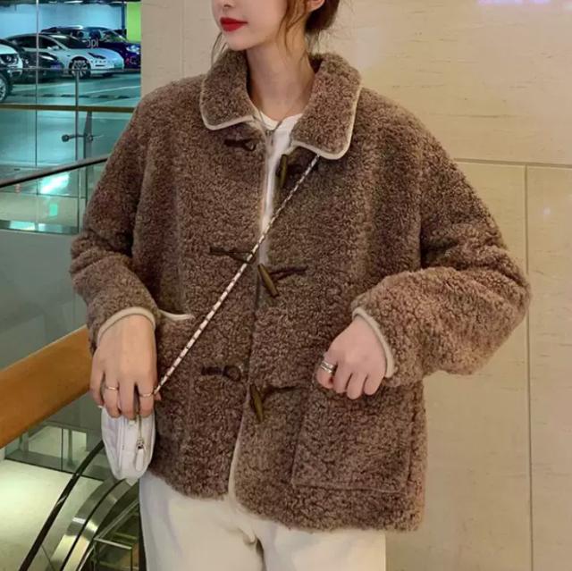 【送料無料】トレンド♪もこもこジャケット♡アウター ふわふわ 暖か 可愛い 学生 デート ラテカラー