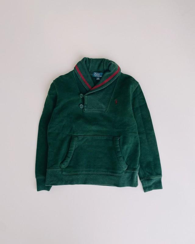 (KD192)120cm Polo Ralph Lauren shawl collar sweat