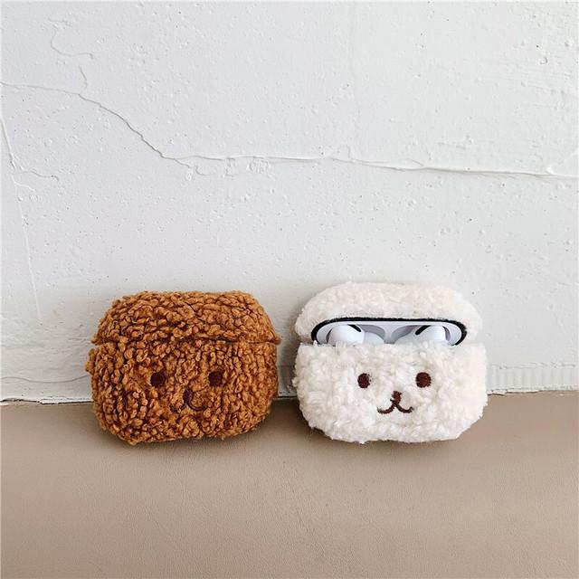 Cute animal fur airpods case