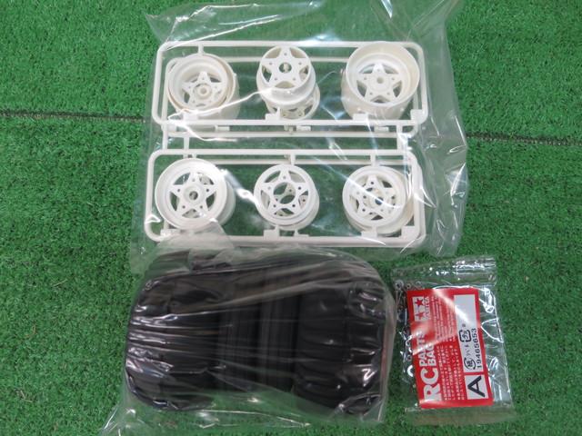 タミヤ 1/10RC グラスホッパー 純正タイヤ/ホイールセット タミヤアフター商品