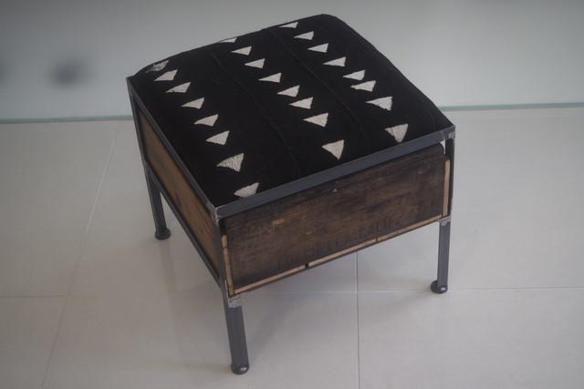 品番UAB1-101  1drawer ottoman[narrow/African black]