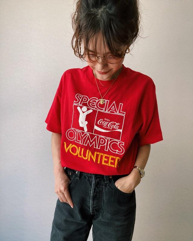 (CS358) Coca Cola Olympics Volunteer T-shirt made in USA