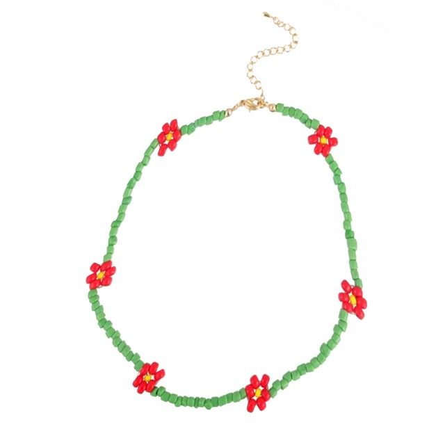 Flower Beads Necklace