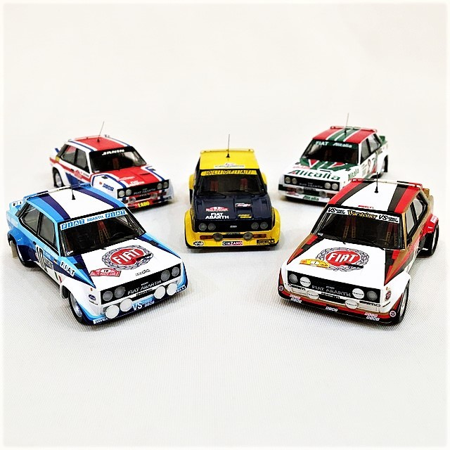 Fiat 131 Abarth RALLY Completo set 1/43 【TROFEU】【1セットのみ】【税込価格】