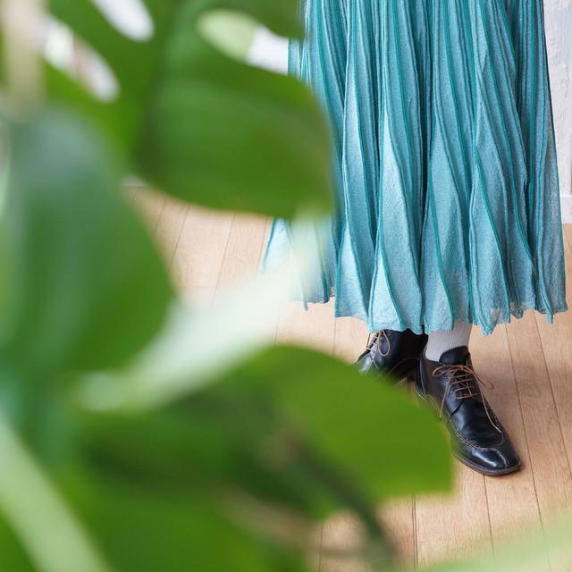 ツイード柄編み・ニットスカート *boussole(ブソル)