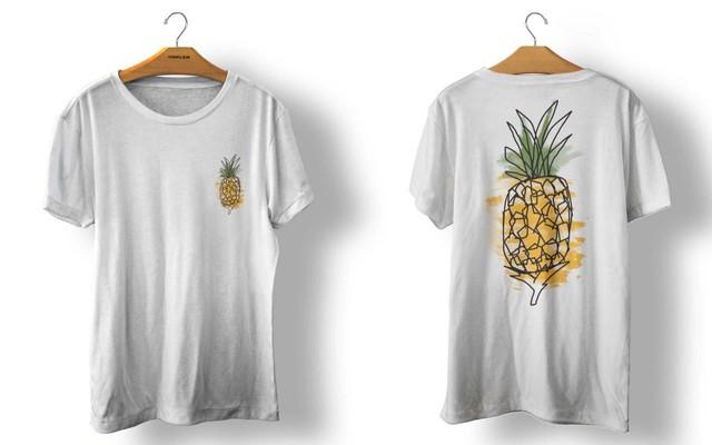 OSKLEN オスクレン Tシャツ STONE ABACAXI WATERCOLOR BRANCO size import men's S