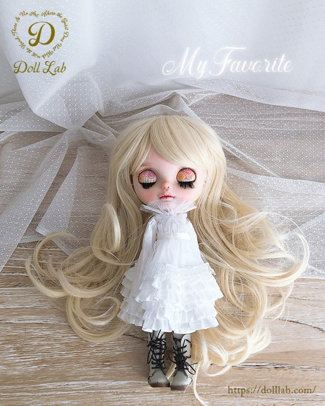 プリンセスシフォン[12inch 髪ありブライス ]ミルクゴールド  DWL009-A002-12in