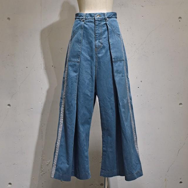 -niitu- / Side Line Denim Pants / Blue