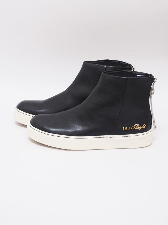 EARLE (アール) Back zip sneaker boots / BLACK ER9410-1