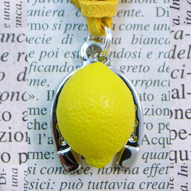 ◆幸運の馬蹄アクセサリー◆ 果物(くだもの・クダモノ)2 檸檬(れもん・レモン) 「健康・爽やかな人生・実を結ぶ」