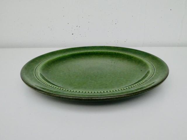Höganäs keramik(ホガナス ケラミック) ・Old Höganäs グリーンのプレート(欠けあり)
