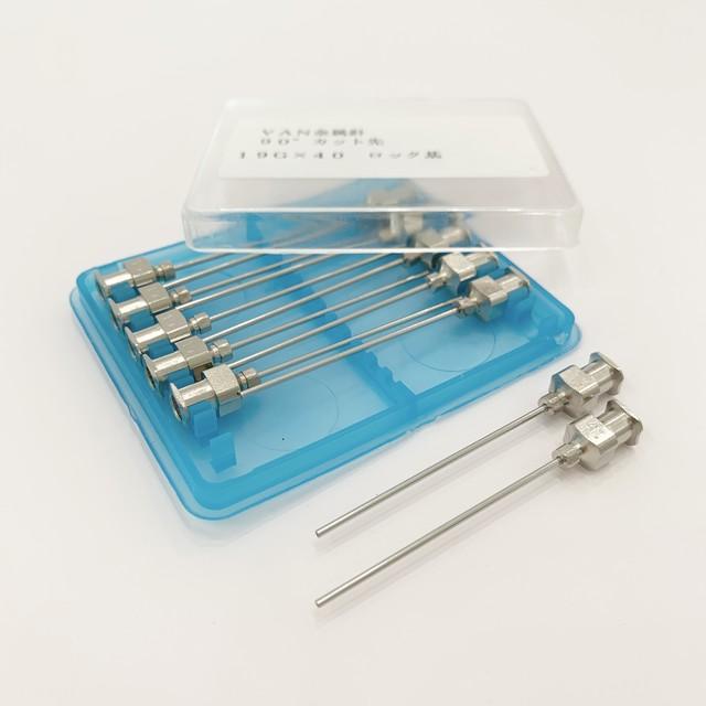 【工業・実験/研究用】 VAN金属針 90°カット先 19G×40 12本入(医療機器・医薬品ではありません)
